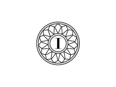 Ilya Jewelry_Unused badge ilya jewelry logo brand mark diamonds classical handmade art deco luxury