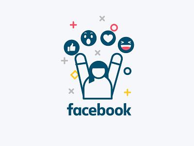 Online Visibility Illustrations: Facebook thumbsup emoji facebook one line online ebook dental dentist characterdesign character minimal vector flat simple illustration
