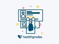 Online Visibility Illustrations: Healthgrades