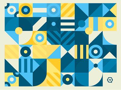 Little RW Pattern geometric pattern geometic triangle bullseye simple minimal square rectangle circle design pattern