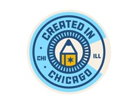 Created in Chicago Badge