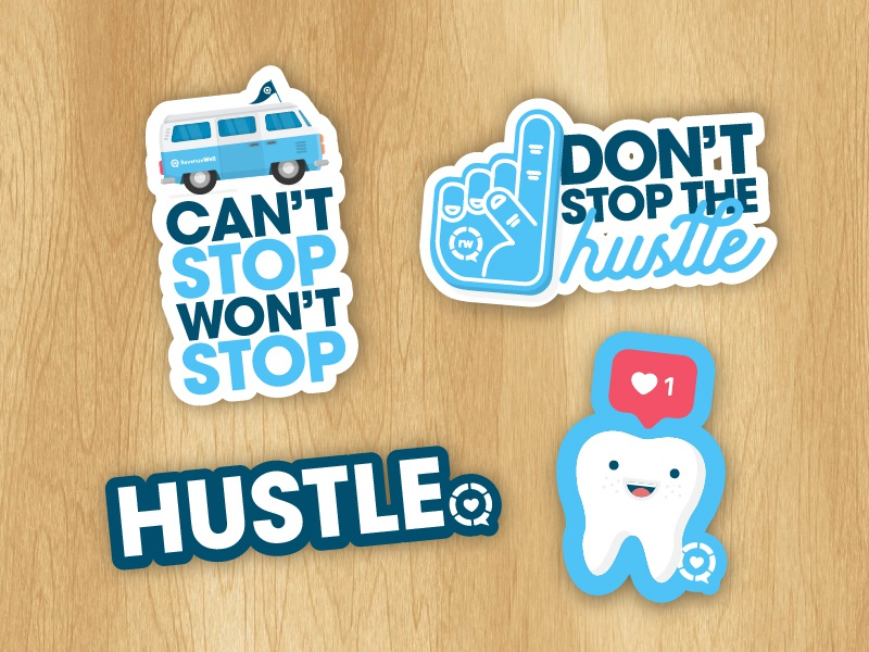 First RevenueWell Sticker Pack culture swag simple likes bus hustle revenuewell dental tooth sticker mule sticker sticker set