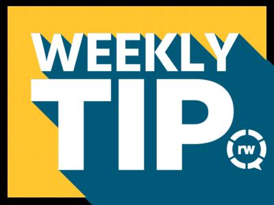 Weekly Tip