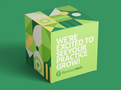 New Dentist Promo: Packaging brand flat simple geometric pattern contianer box packaging mockup package