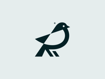 Bird mark minimal animal minimalism illustration geometry design icon mark logo bird