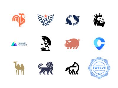 Logo Lounge book 12 logolounge twelve camel lion fish rooster pig woman animal geometry design icon mark logo mark book logo