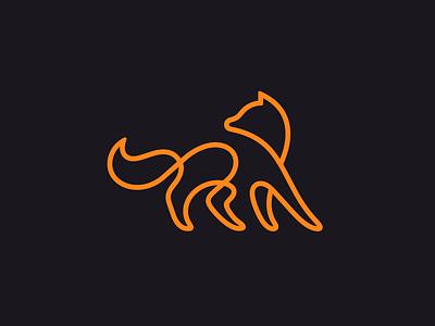 Fox mark free wave minimal vector animal minimalism illustration design icon mark logo linework line fox