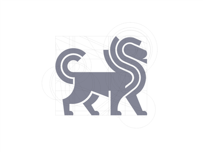 Lion Grid* identity branding design icon mark illustration geometry line animal lion grid logo