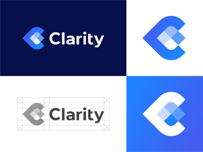 Clarity logo | Eye care & Eyewear pupil logotype simple clean color design geometry branding clinic icon mark logo eye glasses