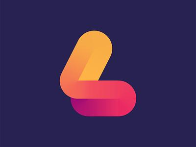 L mark identity minimal line illustration icon minimalism mark geometry letter logotype gradient l logo