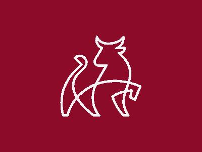 Bull | line mark abstract minimal illustration geometry logotype horns linework branding line animal bull design icon mark logo
