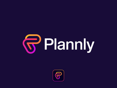 Plannly logo design gay waves calendar pride love heart dating languages chat branding logotype minimalism line geometry design mark ios app plannly logo