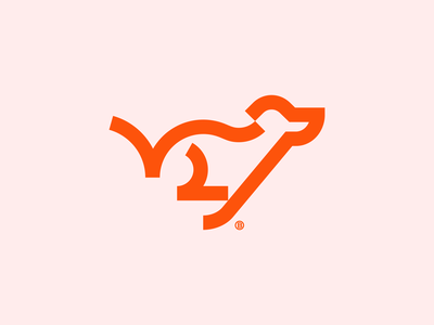 Running dog mark doggy wolf abstract glitch vector illustration design icon mark logo graphic design running pet animal run dog