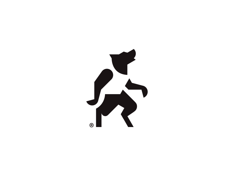 Werewolf negative space design mark logo man minimalism wolf werewolf