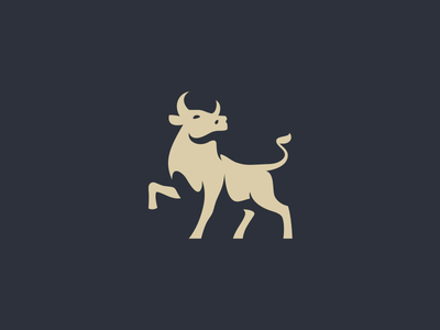 Bull / mark vector illestration 2d bull mark logotyp logo