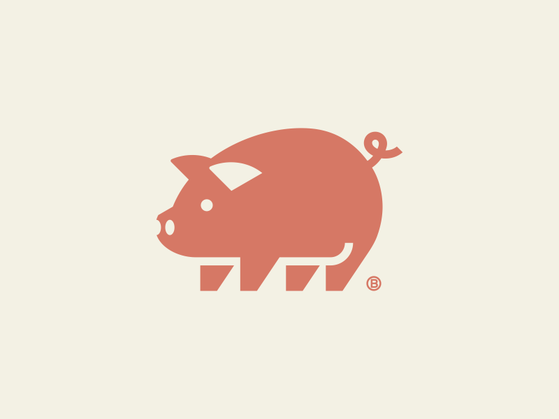 Pig mark 2019 illustration minimalism icon logo mark pink pig