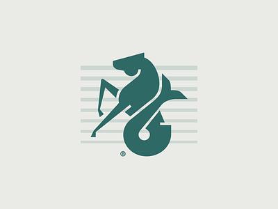 Seahorse mark animal minimal icon minimalism line modern geometry mark design illustration sea logo seahorse horse