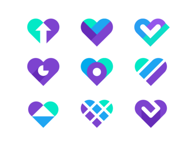 Icon hearts concepts