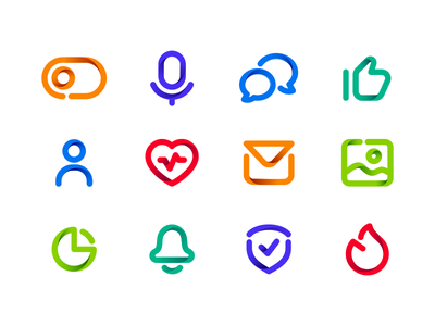 Icons icons humanity humans shield statistics picture microphone like letter icon human heart cloud chat