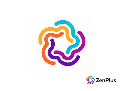 ZenPlus star vector line minimalism illustration geometry design icon mark logo japan zen plus
