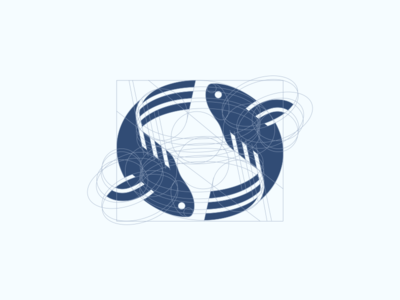 Fish geometric line animal minimalism illustration geometry design icon mark logo food fish