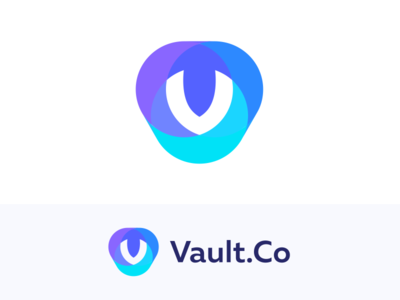 Vault.co co colors circle minimal vault shield v minimalism illustration geometry design icon mark logo