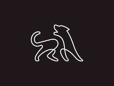 Dog line work linework minimal vector line dog animal minimalism illustration geometry design icon mark logo