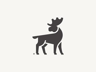 Moose minimal vector 2d line minimalism geometry illustration design icon mark logo tree animal moose