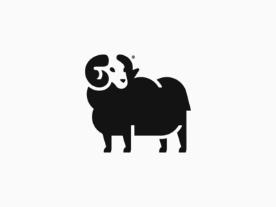 Black Sheep mark logotype geometry branding line logo mark design illustration black ram animal sheep