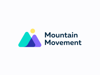 Mountain Movement logo colors geometry line branding mark logo design minimal nature sun art digital mountain