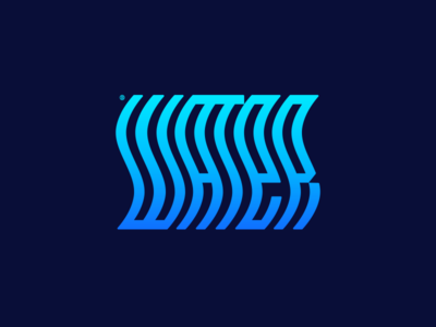 Water 2d minimalism geometry illustration design icon mark logo blue waves drop water