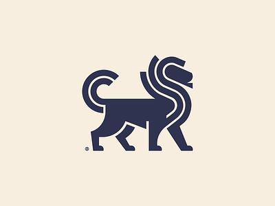 Lion mark vector animal line minimalism geometry illustration design icon mark logo lion