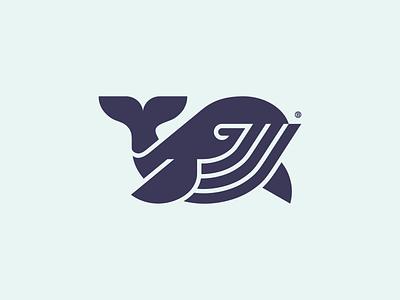 Whale mark vector line fish whale animal minimalism geometry illustration design icon mark logo