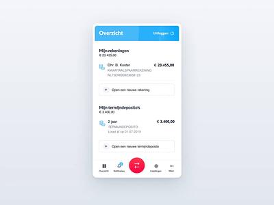 NIBC - banking app - UI animation nibc ae design ui animation