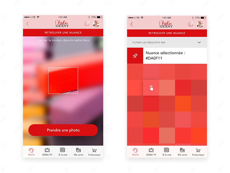 Digital Color Chart Mobile App Latelier Gant By Anas Migeon