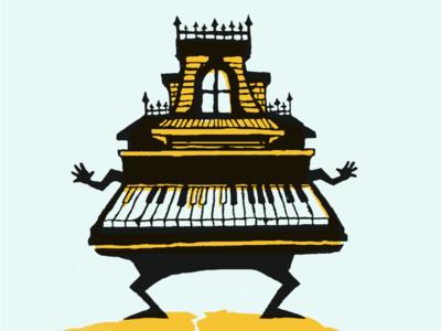 Spooky house piano
