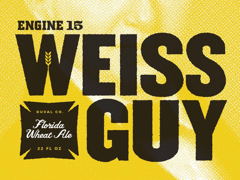 Weissguy typography beer