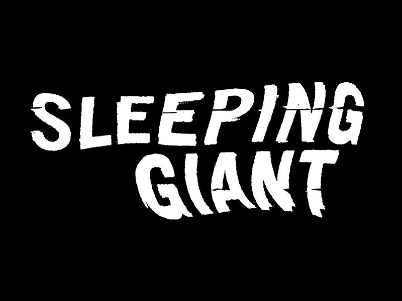 Sleeping Giant typography