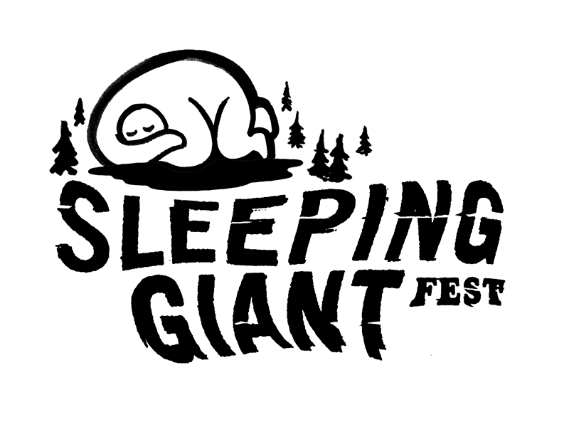 The giant logo illustration typography