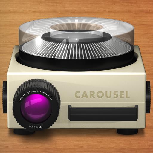 Carousel icon with bg full