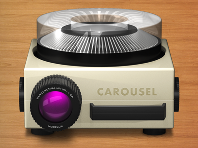 Carousel icon with bg
