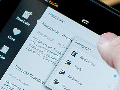 Instapaper for Android ui android tablet phone