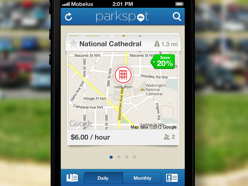 Parkspot ios iphone ui