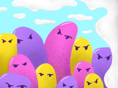 The Squad blobs united homies friends squad illustration