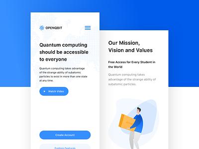 OpenQbit – Mobile responsive mobile website web illustration web design user interface user experience ux ui landing page