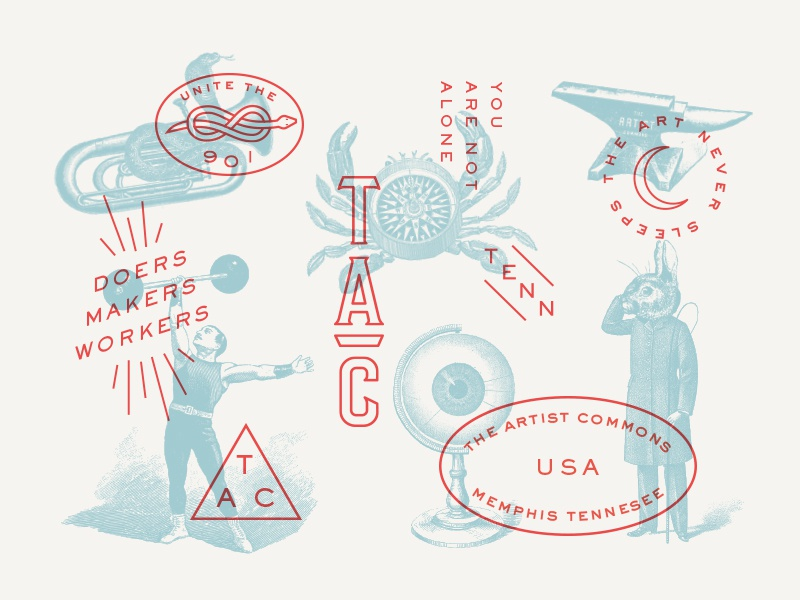 Pattern overlay retro typography elements lockups system identity branding concept mashup illustration overlay vintage layers