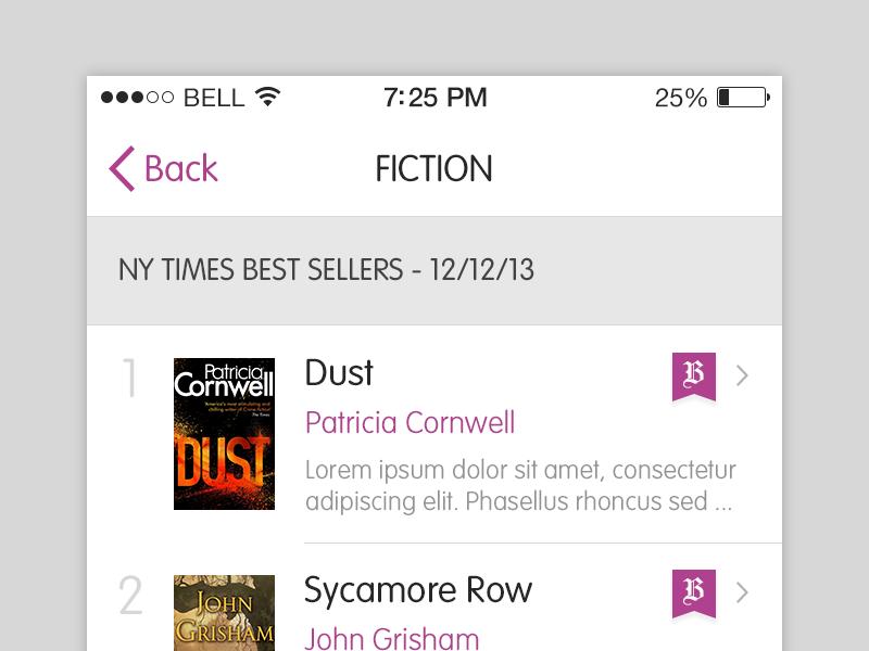 Fiction ios app iphone books