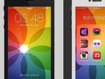 Colourwall iphone ios7 ios seven photos icon wallpaper