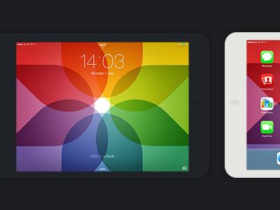 iPad Colourwall ios7 wallpaper ipad mini photos icon colour wheel overlay