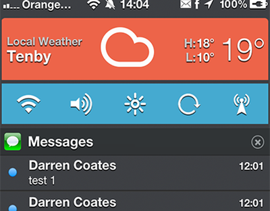 Matte NC notification center settings ios